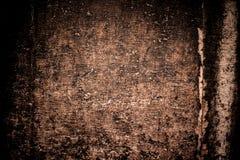 抽象豪华棕色背景 抽象难看的东西黑色vignett 免版税库存照片