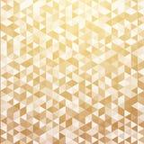 抽象豪华镶边了几何三角样式金子颜色ba 向量例证