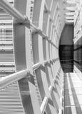 抽象走廊,水平的正确的构成 库存照片