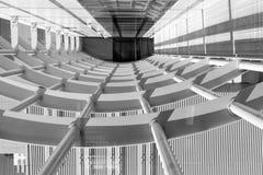 抽象走廊,水平的正确的构成 免版税图库摄影