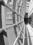 抽象走廊,水平的正确的构成 免版税库存图片