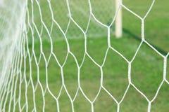 抽象足球目标网 免版税库存图片