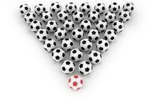 抽象足球背景 库存照片