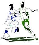 抽象足球运动员 图库摄影