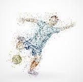 抽象足球运动员 免版税库存图片