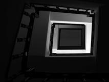 抽象路径正方形 免版税库存照片