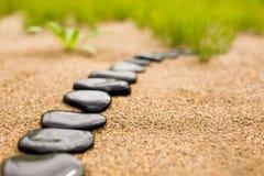 抽象路径石头 免版税库存图片