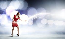 抽象跳舞例证公司妇女 库存图片