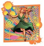 抽象跳舞例证公司妇女 库存照片