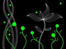 抽象跳舞植物 库存照片