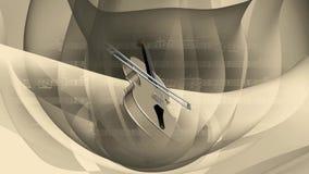抽象转动的小提琴 库存例证