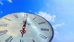 抽象转动的时钟定期流逝 股票录像
