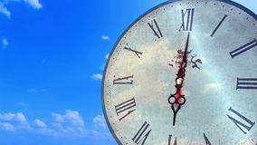 抽象转动的时钟定期流逝 影视素材