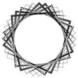 抽象转动的相交的正方形 锋利,锋利的螺旋, vort 皇族释放例证