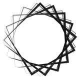 抽象转动的相交的正方形 锋利,锋利的螺旋, vort 库存例证