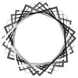 抽象转动的相交的正方形 锋利,锋利的螺旋, vort 向量例证