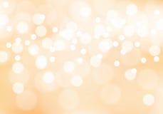 抽象软的橙色bokeh光背景传染媒介 向量例证