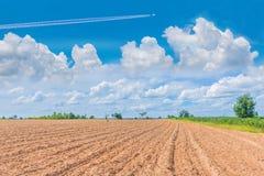 抽象软的焦点犁,耕种,采摘,耕种,植物 免版税库存照片
