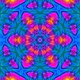 抽象轻的背景wirh蓝色和粉色 向量例证