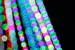 抽象轻的Bokeh背景 defocus光的迷离图片在晚上 免版税库存图片