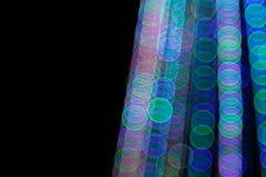 抽象轻的Bokeh背景 defocus光的迷离图片在晚上 免版税图库摄影
