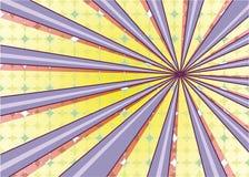 抽象辐形太阳爆炸背景 减速火箭的被消散的样式五颜六色的光后边 也corel凹道例证向量 10 eps 免版税库存照片
