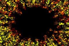 抽象辐形黄色背景 免版税库存照片