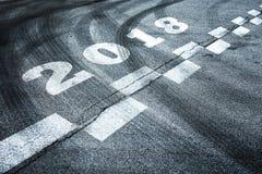 抽象输入的新年2018年背景 免版税库存照片