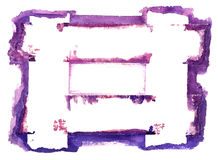 抽象边界查出的水彩白色 免版税库存图片