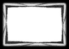 抽象边界grunge大油漆 免版税库存照片