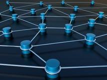 抽象连接数网络 免版税库存图片