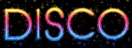 抽象迪斯科彩虹 向量例证