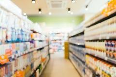 抽象迷离和defocused超级市场零售和购物 库存图片
