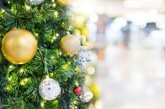 抽象迷离圣诞树bokeh背景 库存图片