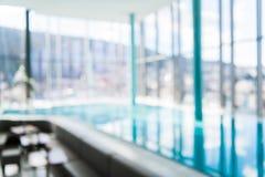 抽象迷离豪华室内游泳池背景 图库摄影
