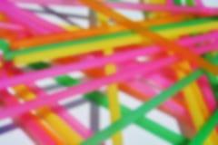 抽象迷离五颜六色的线和白色斑点 库存照片