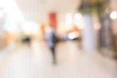 抽象迷离人民在购物中心 免版税库存图片