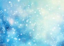 抽象迷离冬天背景 免版税库存照片