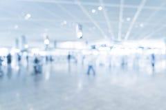 抽象迷离在机场 免版税库存图片