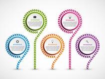 抽象选择infographics模板 企业介绍或信息横幅的Infographics 皇族释放例证