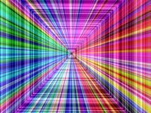 抽象透视五颜六色的条纹背景 免版税库存照片