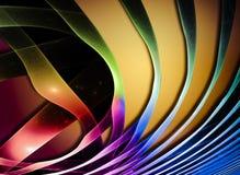 抽象通知 意想不到的五颜六色的分数维设计 库存照片