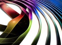 抽象通知 意想不到的五颜六色的分数维设计 库存图片