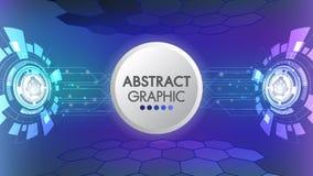 抽象速度技术创新设计科学幻想小说未来派发光的概念 Vitrual现实屏幕传染媒介背景 向量例证