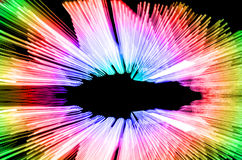 抽象速度行动灯光管制线 免版税库存图片