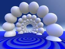 抽象邀请的隧道 向量例证