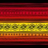 抽象部族传染媒介无缝的织品样式 库存图片