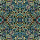 抽象部族种族无缝的样式 免版税库存图片