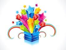 抽象配件箱五颜六色的魔术星形 图库摄影