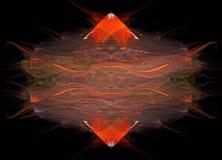 抽象金刚石红色 库存照片